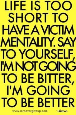 victim mentality quote